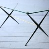 1950s Brass and Glass Modernist Coffee Table2