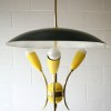 1950s Yellow Ceiling Light