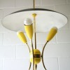 1950s Yellow Ceiling Light 2