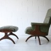 1960s Green Vinyl Chair and Stool2