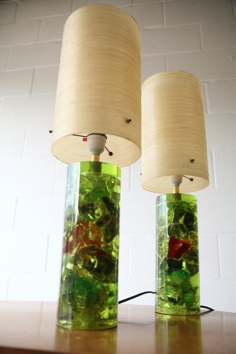 1960s Prova Shatterline Lamps