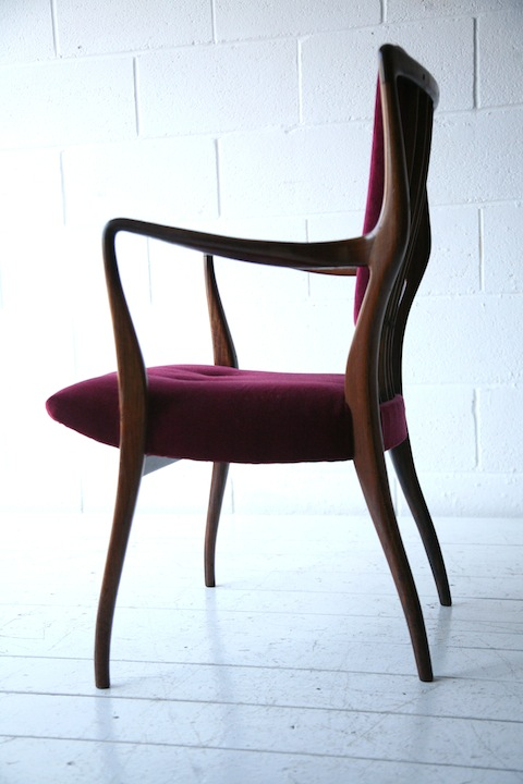 1940s Rosewood Chair By Aj Milne Cream And Chrome