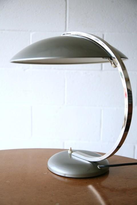 Vintage Silver Desk Lamp by Hillebrand2