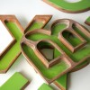 03 Large Green Plastic and Wood Shop Letters4