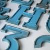04 VIntage Blue Metal Shop Letters Doric Font1