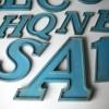 04 VIntage Blue Metal Shop Letters Doric Font3