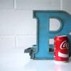 04 VIntage Blue Metal Shop Letters Doric Font4
