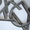 09 Vintage Aluminium Shop Letters Gill Sans Font 2