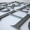 12 VIntage Metal Shop Letters Times Roman Font 1