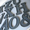 14 Large Vintage Grey Metal Shop Letters Doric Font 3