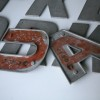 16 Large VIntage Metal Shop Letters Doric Font 3