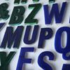 18 Small Green Blue Plastic Shop Letters