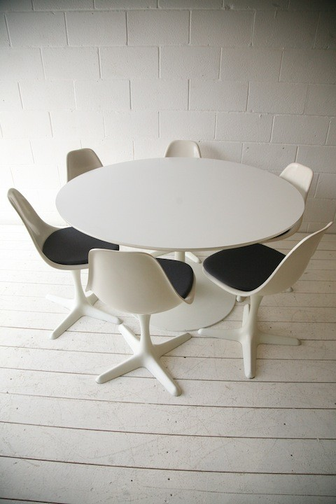Swell 1960S Dining Table And 6 Chairs By Arkana Cream And Chrome Andrewgaddart Wooden Chair Designs For Living Room Andrewgaddartcom