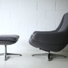 1970s Grey Swivel Chair and Stool2