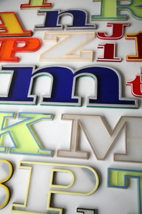 22 1960s Plastic Shop Letters 2