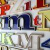 22 1960s Plastic Shop Letters