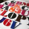 24 1960s Vintage Plastic Shop Letters 1