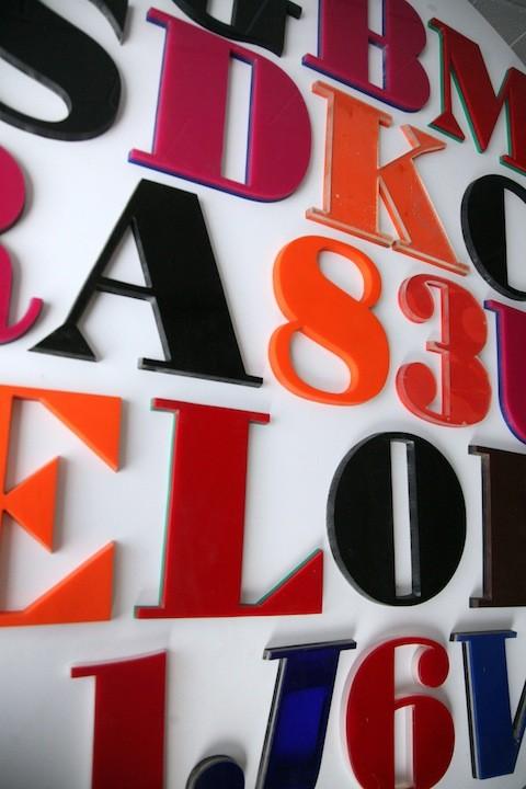 24 1960s Vintage Plastic Shop Letters