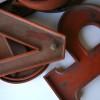 25  Large Wooden Vintage Shop Letters Doric Font 3