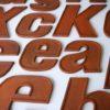 26 Wooden Vintage Shop Letters Doric Font