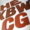 27 Large Wooden Vintage Shop Letters Doric Font 1