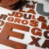 27 Large Wooden Vintage Shop Letters Doric Font 2