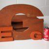 27 Large Wooden Vintage Shop Letters Doric Font 3