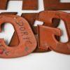 27 Large Wooden Vintage Shop Letters Doric Font 4