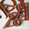 28 Wooden Vintage Shop Letters Times Roman Font  4