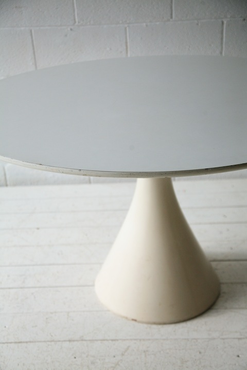 1960s Dining Table By Maurice Burke Cream And Chrome