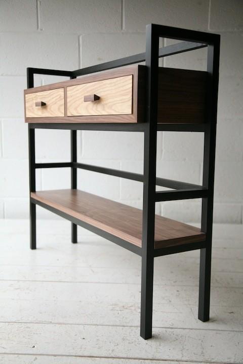 Walnut and Ash Bookcase