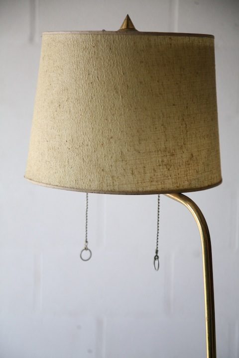 1950s French Brass Floor Lamp4