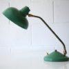 1950s Green Brass Desk Lamp4
