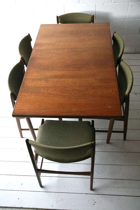 1960s G Plan Dining Table And 6 Chairs Cream And Chrome