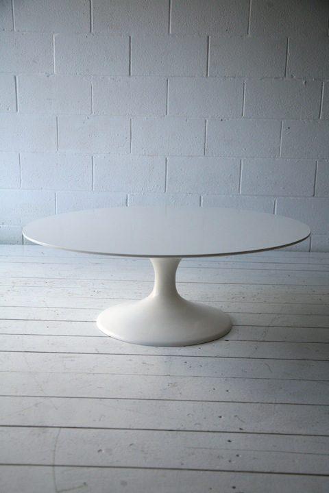 1960s White Tulip Coffee Table