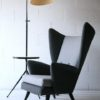 Large 1950s Floor Lamp with Side Table 3