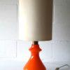 Large Orange Glass 1970s Table Lamp