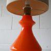 Large Orange Glass 1970s Table Lamp3