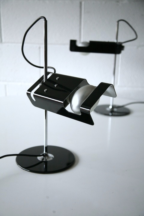 Spider Desk Lamps By Joe Colombo For Oluce Cream And
