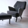 Vintage 1950s 'Escort' Armchair and 'Oracle' Stool by Howard Keith UK