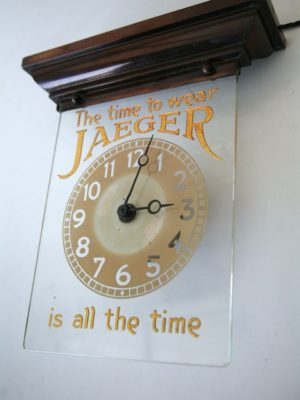 Vintage Jaeger Advertising Clock 5