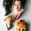 1950s Decorative Chalkware Heads