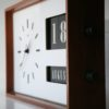 1960s Large Teak Calendar Clock
