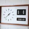 1960s Large Teak Calendar Clock2