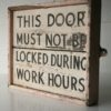 Industrial Wooden Sign