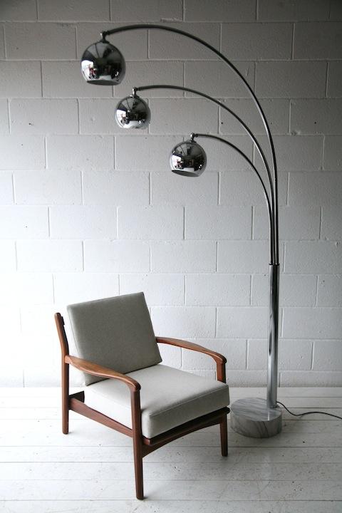 Large 1970s chrome floor lamp cream and chrome large 1970s chrome and marble floor lamp aloadofball Choice Image