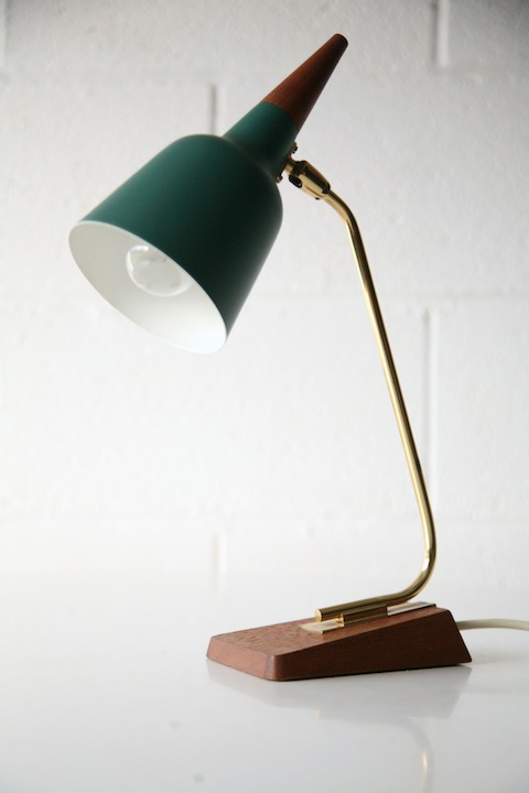 Teal Desk Lamp