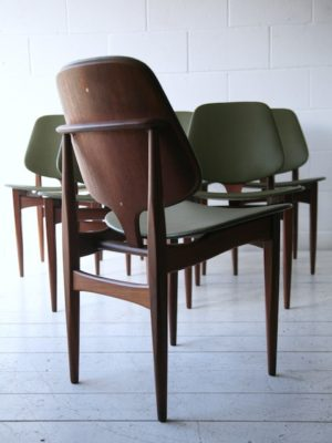 Set of 6 Teak Dining Chairs by Elliots of Newbury