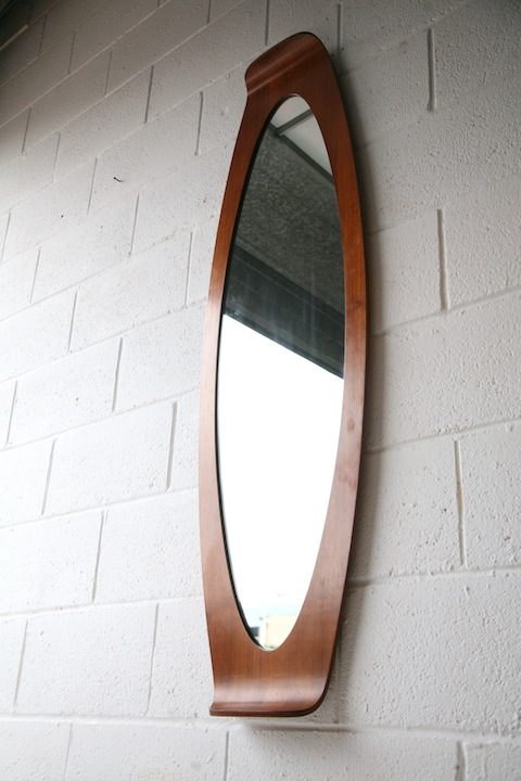 Teak Mirror by Franco Campo and Carlo Graffi
