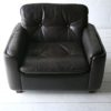 Vintage Brown Leather Chair by Vatne Mobler